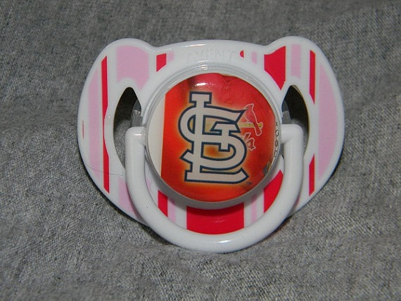 Saint Louis Cardinals Baby Pacifier by SportsCardBling on Etsy, $11.00