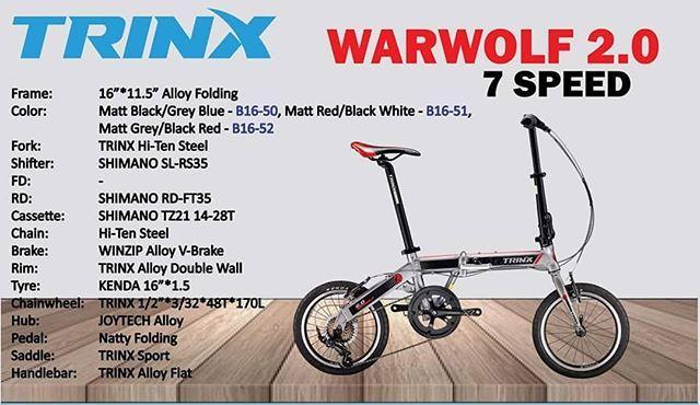 Trinx Folding Series Bike Trinx Striker K Series Starting 15k