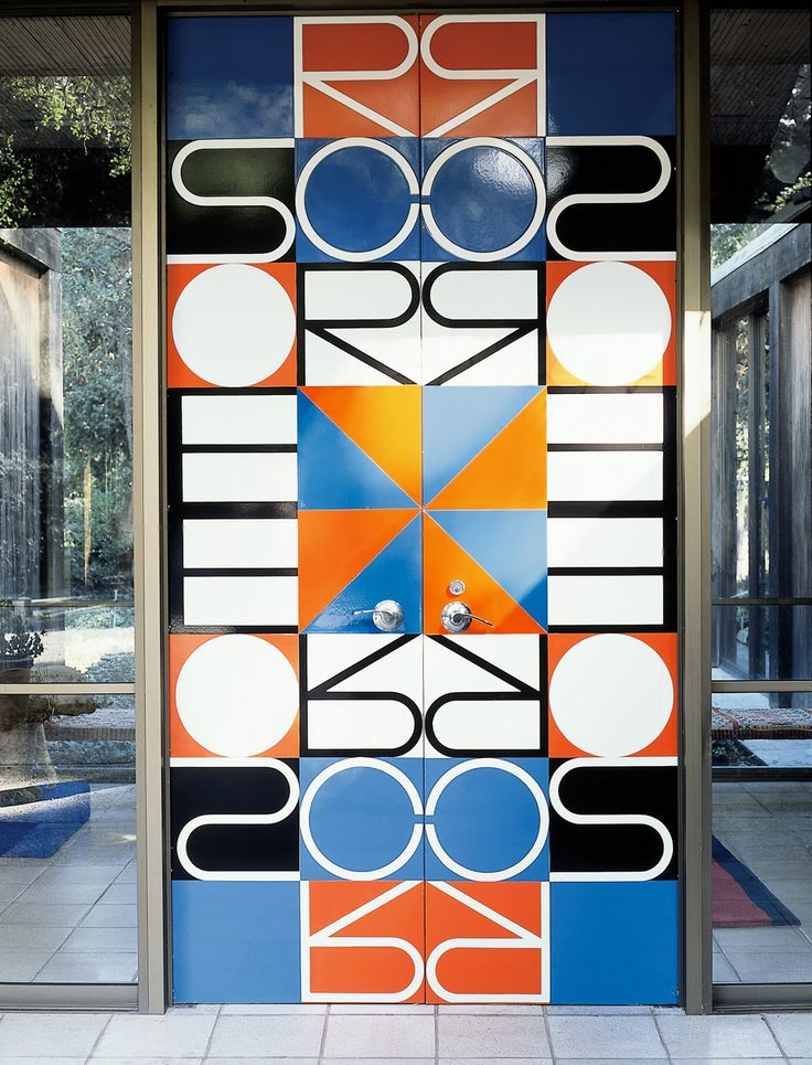 Alexander Girard designed door for Robert Scoren, 1969.