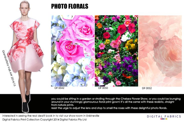 Our fashion prints with some inspiration from the runway #prints #design #fashion #fabric #floral #flower