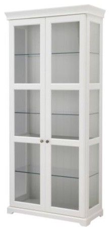 LIATORP Glass-Door Cabinet modern bookcases cabinets and computer armoires