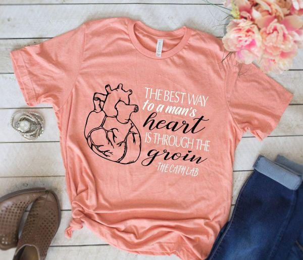 Nurse Shirts, Cath Lab Shirt, Cath Lab, Cardiac Shirt, Anatomical Heart Shirt, Human Heart Shirt, Registered Nurse Shirts, RN, LPN, Cardiac Nurse Shirts, Nurse Tees by TheGraytestAdventure on ETSY.