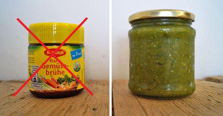 Gemüsebrühe-Pulver enthält oft kaum Gemüse, dafür Geschmacksverstärker, Aromen oder Palmöl. Die Alternative: Gemüsebrühe selber machen geht ganz einfach.