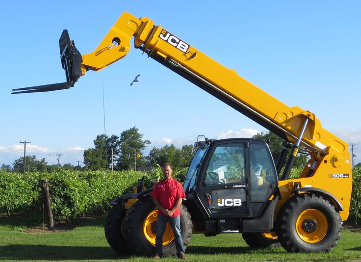 Ontario, Canada-based D Group now represents the full agricultural equipment line of JCB equipment. Pictured is Bob Coutu, JCB salesperson for Red Trac International in Ontario, a branch of D Group.
