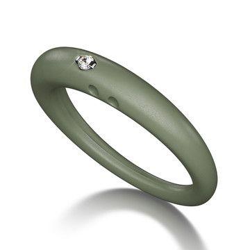 Duepunti Classic silikonering med diamant str. M, grey (549,-)  Fåes bl.a hos Aurifix, Fiolstræde eller Www.hindborg-shop.com