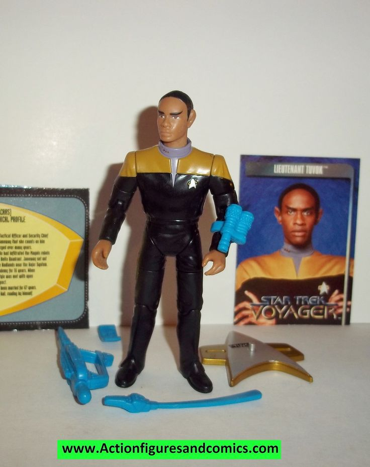 Star Trek TUVOK LIEUTENANT voyager 1995 playmates complete action figures