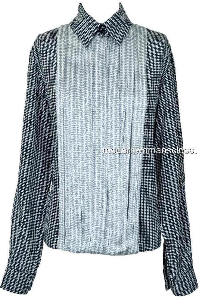 fbd74b03b658f Chanel 13A Silk CC Pleated Blouse Top Shirt NEW 36 Classic RARE  fashion   clothing  shoes  accessories  womensclothing  tops (ebay link)