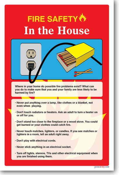 45 best health and safety posters images on pinterest for Fire safety house