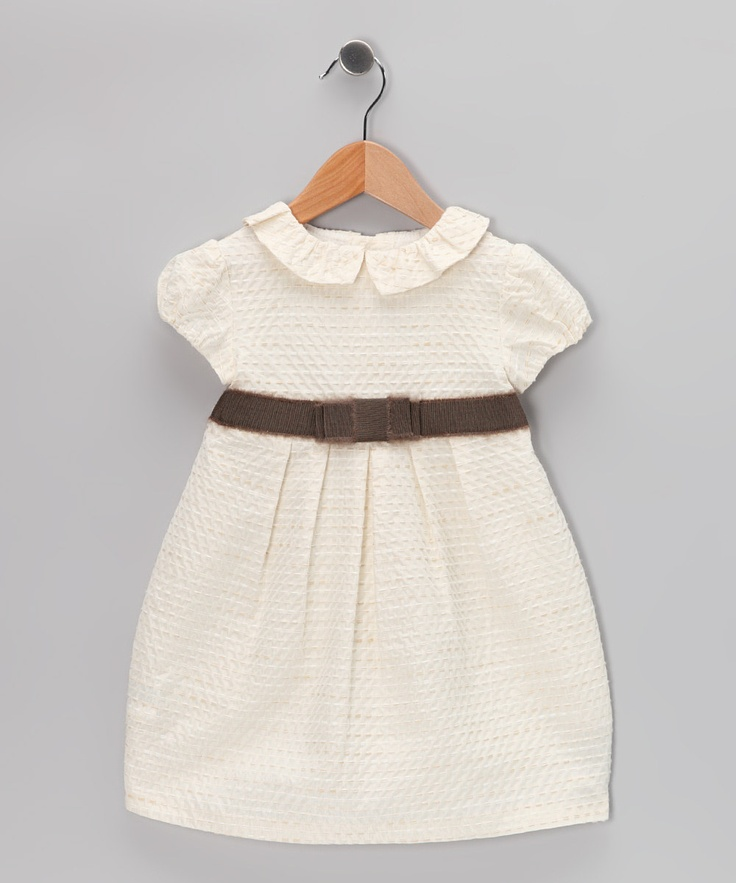 Fina Ejerique Cream Pleated Dress - Infant & Toddler
