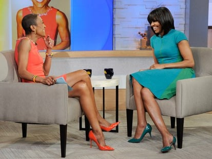 Michelle Obama on good morning america - Google Search..love her bangs