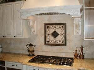Kitchen Tile Backsplash with Metal Accents