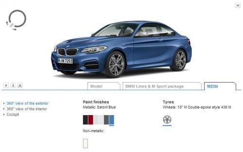 2014 BMW 2-Series configurator now online