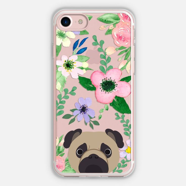 Pug Floral Phone Case