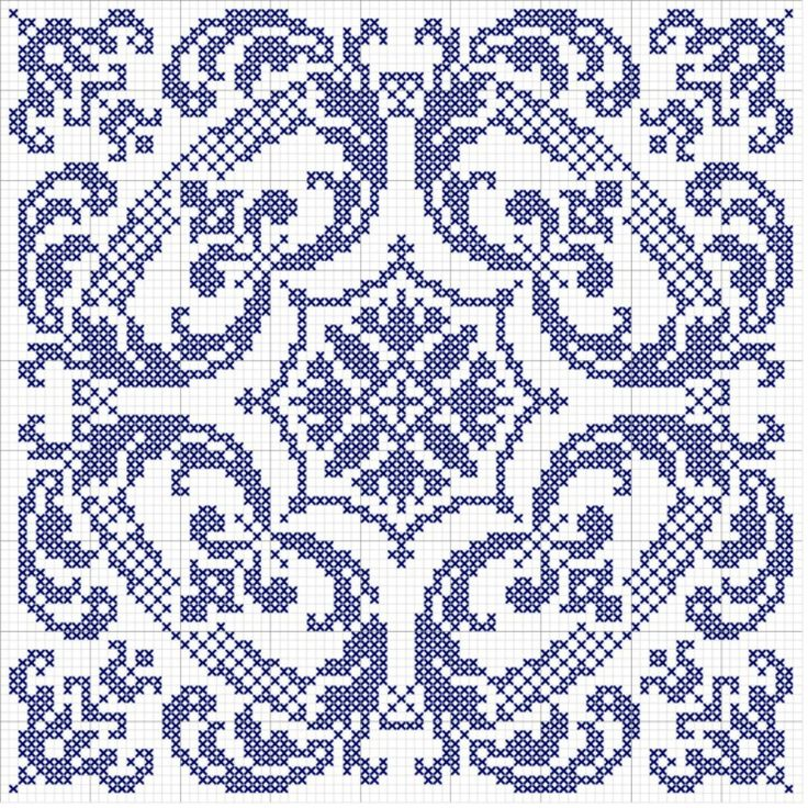 biscornu pattern for my grandma. think she might like that in purple.