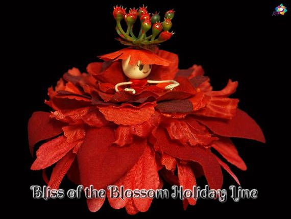 Bliss of the Blossom Holiday Line Fairy Faerie OOAK Doll