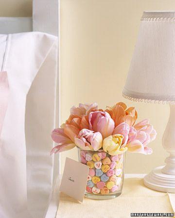 Conversation Heart Candy Bouquet