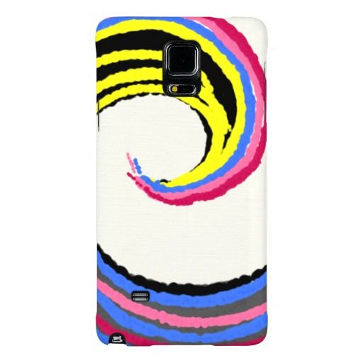 Colorful Spiral Optimistic Fun Design Galaxy Note 4 Case, design by artist Charles Bridge 7x, mobile case
