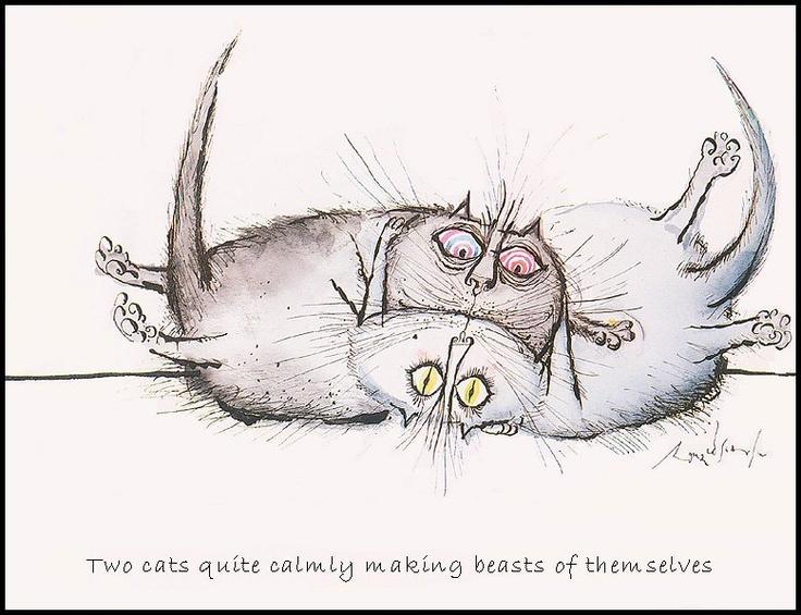 Как нарисовать прикольные рисунки кошек, рабочего дня картинки