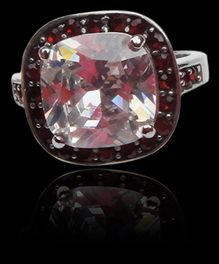 'Sin City' Steel & CZ Statement Ring Las Vegas, Sin City Ok, so who needs a trip to the high desert of Nevada when you can have big splashy baubles like this right here at home. Talk about winning the jackpot, baby... Ring is 316 surgical steel with a stunning white cushion cut CZ and red CZ accents. Sturdy, durable and simply stunning. There is no reason *not* to add this to your wardrobe. Get your winning hand today and wear it everyday knowing those stones are secure. Sizes 6, 7, 8, 9…