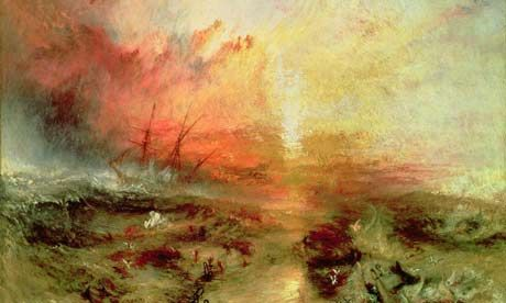 Turner - Apocalyptic light - Fascinating. The light seems to be coming from beyond the canvas.