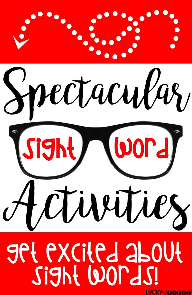 Spectacular Sight Words! Get excited about Sight Words with these motivating ideas!  via @mbuckets