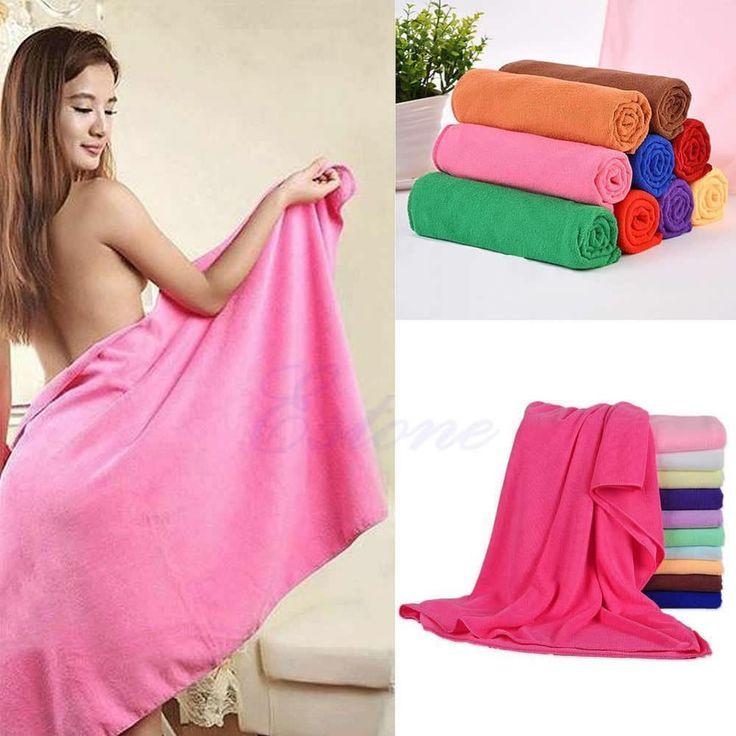 1 pz 70x140 cm assorbente in microfibra bath beach towel essiccazione asciugamano costumi da bagno doccia hxp001