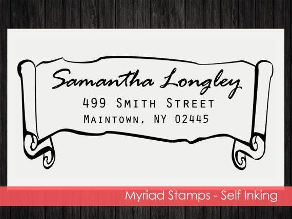 Self Inking Stamp  Custom Address Rubber by LittlePrintsStamps