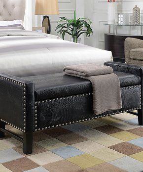 Black Eurus Storage Bench