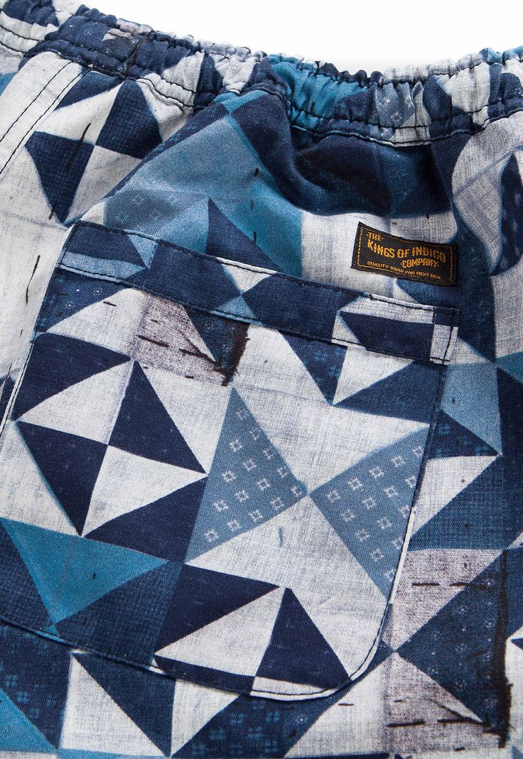 BLue Print Amsterdam  allover pattern _for Kings of Indigo Jonathan, PATCHWORK PRINTED