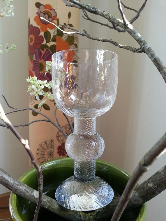 Mid century vintage Iittala large glass viinilasi by fcollectables, €25.00