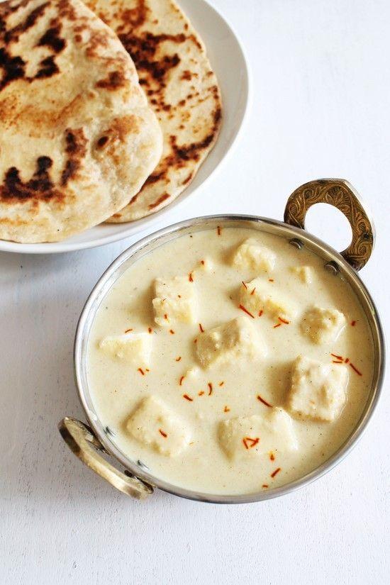 Shahi Paneer Recipe - Soft paneer pieces are simmered in rich, creamy, white gravy. This is Mughlai shahi paneer recipe.  #paneer #food #indianfood #Zaika  http://zaikaofkensington.com/