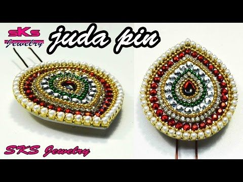 How to make paper juda pin/hair pin | DIY | SKS Jewelry 25 - YouTube