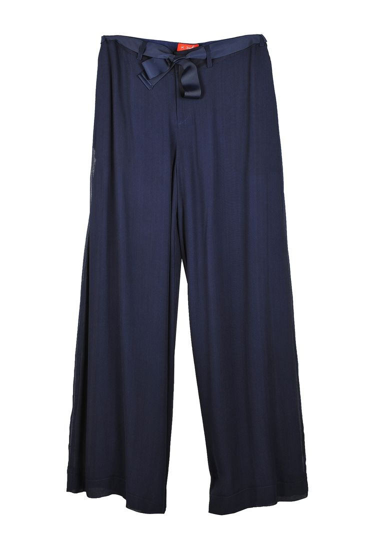 Go with the flow of these navy blue 'Rene Derhy' trousers...