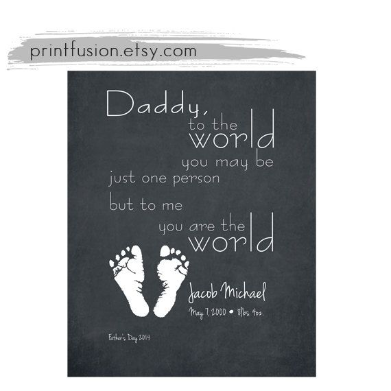 fathers day gift from baby Grandfather Grandmother by PrintFusion