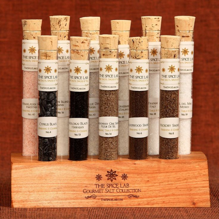 as a gift, get a bunch of gourmet salts and put in mini containers