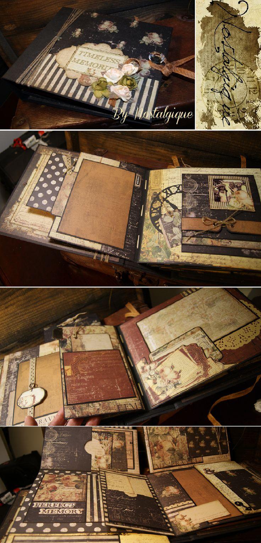 How to scrapbook a photo album - Time Traveler S Prima Marketing Mini Album Tutorial By Nostalgique