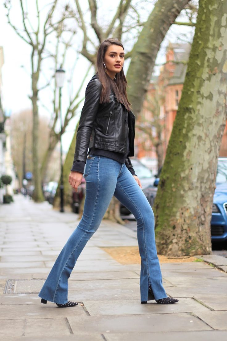 ankle boots fashion flares floral hoodie joe's jeans leather jacket missguided sponsored studs winter