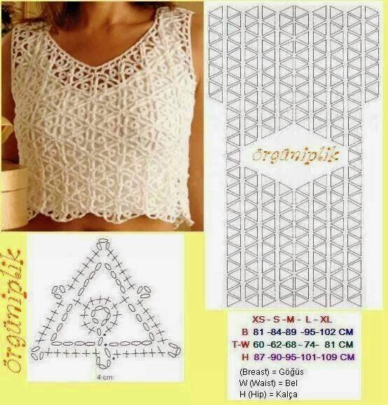 Tecendo Artes em Crochet: Blusas Lindas com Gráficos!