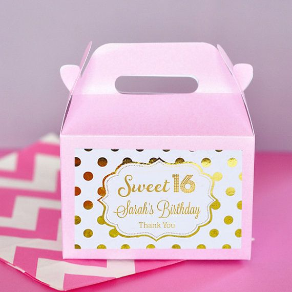 Sweet 16 Birthday Party favor boxes for your Sweet Sixteen Party!  by Mod Party