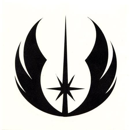 Jedi Symbol l for Joseph's shirt. Put JEDI on back?