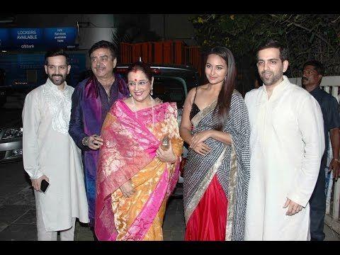 Sonakshi Sinha at Bachchan family's grand Diwali Celebration Party 2014.