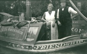 FRIENDSHIP is one of the most famous horse drawn, wooden narrow boats in the country. She is a rare example of an owner-operated horse boat and, for over 50 years, she was the livelihood and home for Joe and Rose Skinner.