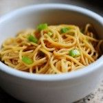 Simple Sesame Noodles- add tons of veggies!! (Snap peas, broccoli, peppers, carrots, extra green onions)