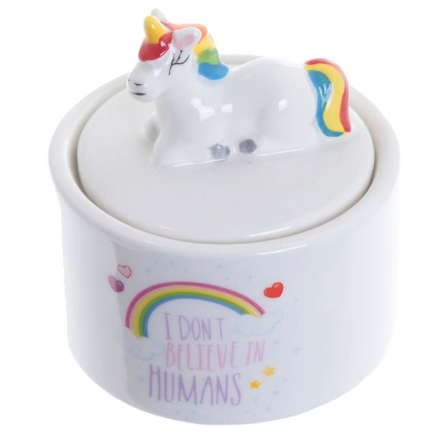 1Piece Rainbow Unicorn Personalised Box Jewellery Box Figurines Girl Trinket Dish Fortune Trinket Nursery Decor