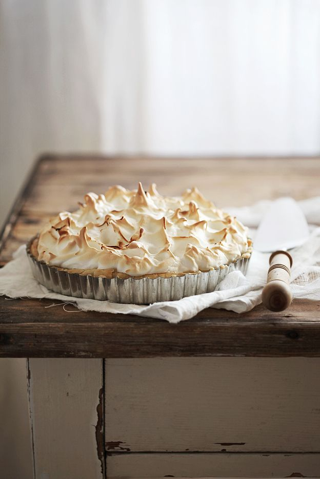 limoen meringue taart