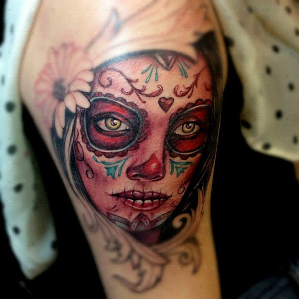 Dia de los muertos new school tattoo google search for Tattoo school listings