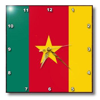 Special Offers - 3dRose dpp_31540_2 Cameroon Flag-Wall Clock 13 by 13-Inch - In stock & Free Shipping. You can save more money! Check It (September 29 2016 at 04:19PM) >> http://wallclockusa.net/3drose-dpp_31540_2-cameroon-flag-wall-clock-13-by-13-inch/