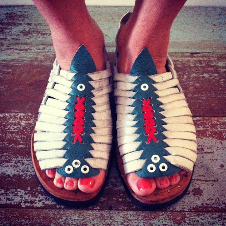 I want these sandals!  Huaraches de Huichol