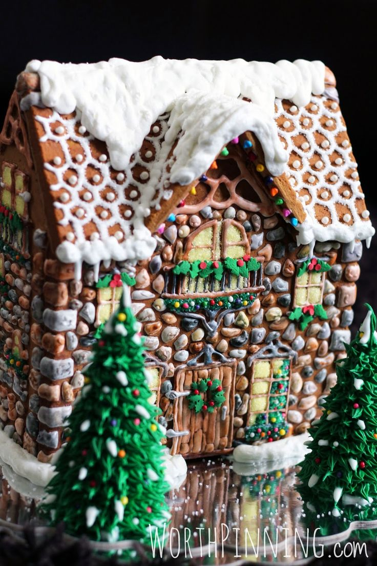 Worth pinning 2014 stone gingerbread house