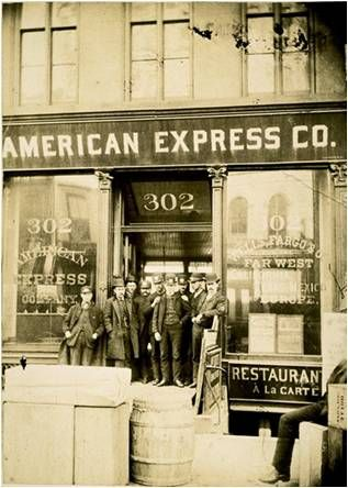 1885, American Express New York City (Canal Street) Office. NYC remains home to…